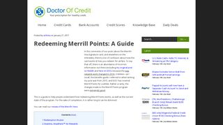 Redeeming Merrill Points: A Guide - Doctor Of Credit