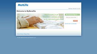 MetLife Login - MyBenefits - MetLife