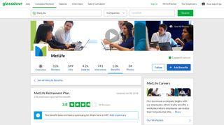 MetLife Employee Benefit: Retirement Plan | Glassdoor