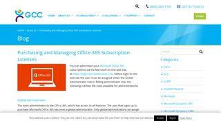 Managing Microsoft Office 365 subscriptions via the portal