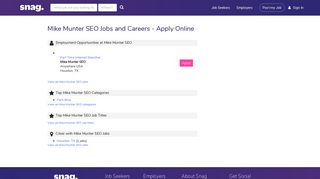 Mike Munter SEO Jobs and Careers - Apply Online - Snagajob