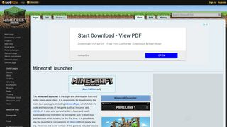 Minecraft launcher – Official Minecraft Wiki
