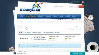 Full Portfolio - Moneybhai - Moneycontrol