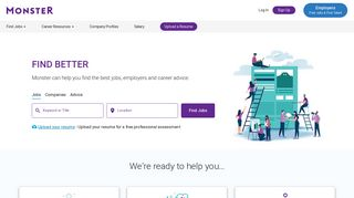 Monster Jobs - Job Search, Career Advice & Hiring Resources ...