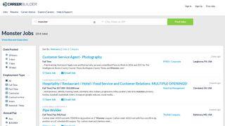 Monster Jobs - Apply Now | CareerBuilder