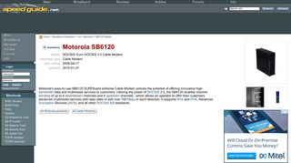 SG :: Motorola SB6120 Cable Modem