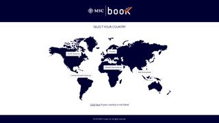 MSC Book Official Global Website - Select Your Country