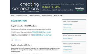 REGISTRATION – MTAM Conference