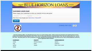 Customer Login Request   Blue Horizon Loans