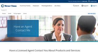 Have an Agent Contact You   Mutual of Omaha