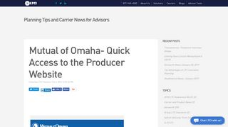 Mutual of Omaha- Quick Access to the Producer Website - LTCI Partners