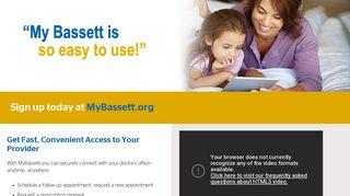 MyBassett :: Bassett Healthcare Network