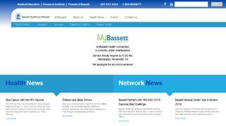 MyChart Redirect :: Bassett Healthcare Network