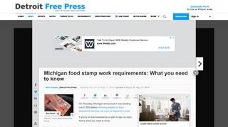 Michigan food stamp work requirements: What you need to know