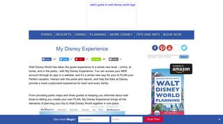 My Disney Experience - Dad's Guide to WDW
