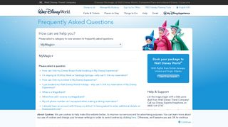 MyMagic+ | Frequently Asked Questions | Walt Disney World® Official ...