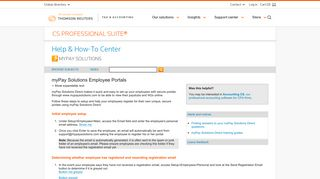 myPay Solutions Employee Portals