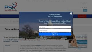 www.tsp.gov login Archives - Public Sector Retirement News - FERS