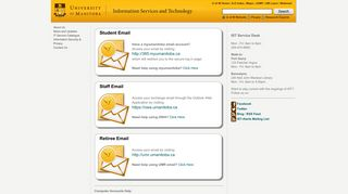 University of Manitoba - Webmail Portal