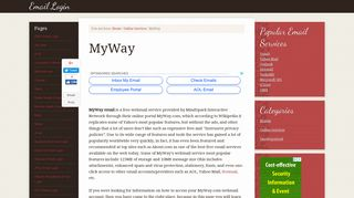 Login Myway Com Email or Register New Account