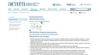 ACARA - Online assessment