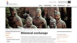Bilateral exchange — English - Opiskelu Jyväskylän yliopistossa