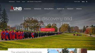 UNB: University of New Brunswick