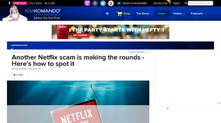 Another Netflix scam is making the rounds - Here's how to spot it ...