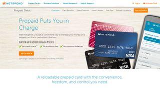 Prepaid Debit Cards | Netspend MasterCard and Visa Prepaid Cards