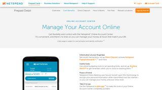 Online Prepaid Account Center | Netspend Prepaid Debit Card