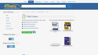 4Tests.com - Free, Practice TASC Exam