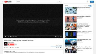 """Foot Locker x Nike Discover Your Air """"Musician"""" - YouTube"""