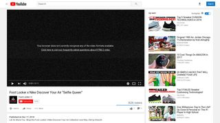 """Foot Locker x Nike Discover Your Air """"Selfie Queen"""" - YouTube"""