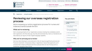 Reviewing our overseas registration process - NMC