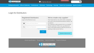 Distributors Login - No-Minimum.co.uk