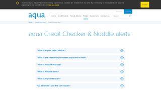 aqua Credit Checker & Noddle alerts