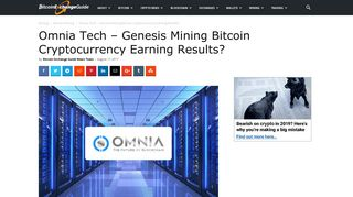 Omnia Tech Review - Genesis Mining Bitcoin Cryptocurrency Earning ...