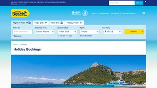 Holiday Bookings with On the Beach