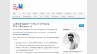 Android Session Management Using SharedPreferences - The Crazy ...