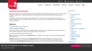 OneDrive for Business - Staffordshire University