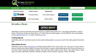 Scam Broker Investigator • OptionRally Review