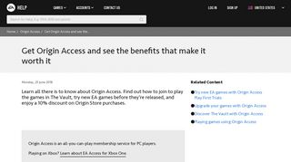 Origin Access - Get Origin Access and see the benefits that make it ...