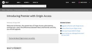 Origin Access - Introducing Premier with Origin Access - EA Help