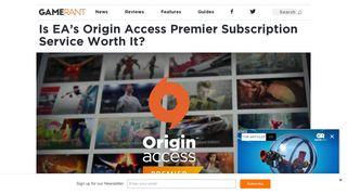 Is EA's Origin Access Premier Subscription Service Worth It? – Game ...