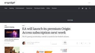 EA will launch its premium Origin Access subscription next week