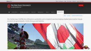The alumni football ticket process - The Ohio State University Alumni ...