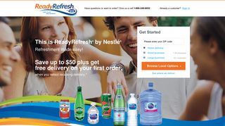 ReadyRefresh: Water and Beverage Delivery Service