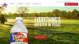 Bottled Water | Ozarka® Brand 100% Natural Spring Water