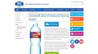 Ozarka | Spring Water | Nestlé Waters North America
