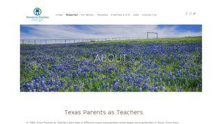 ABOUT — Texas Parents as Teachers